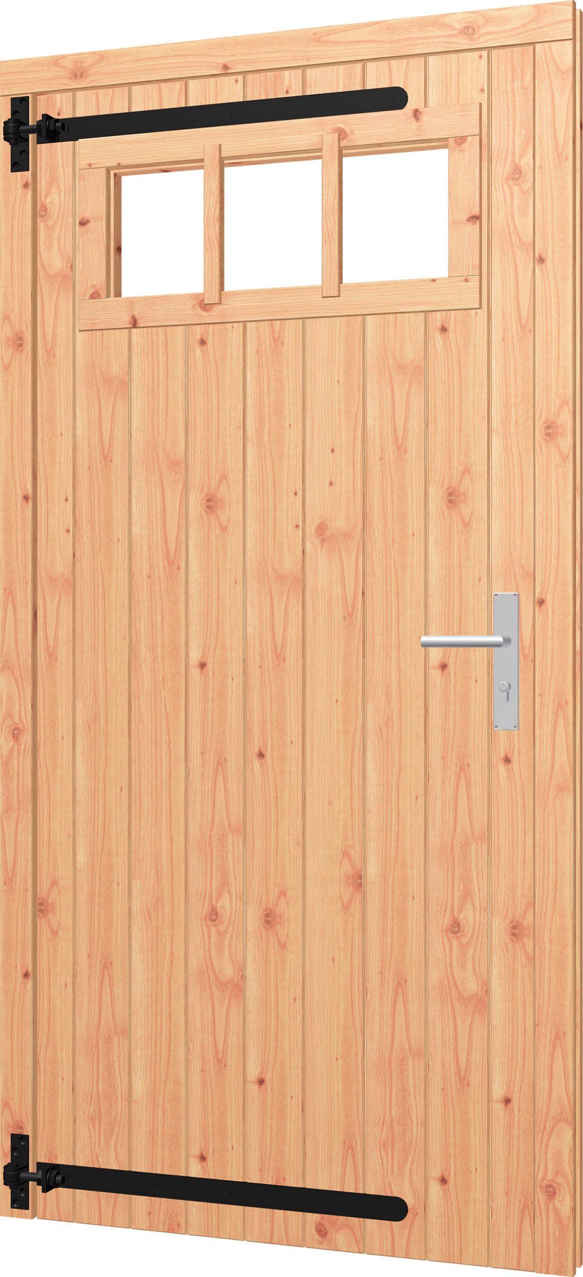 Opgeklampte deur enkel met bovenraam