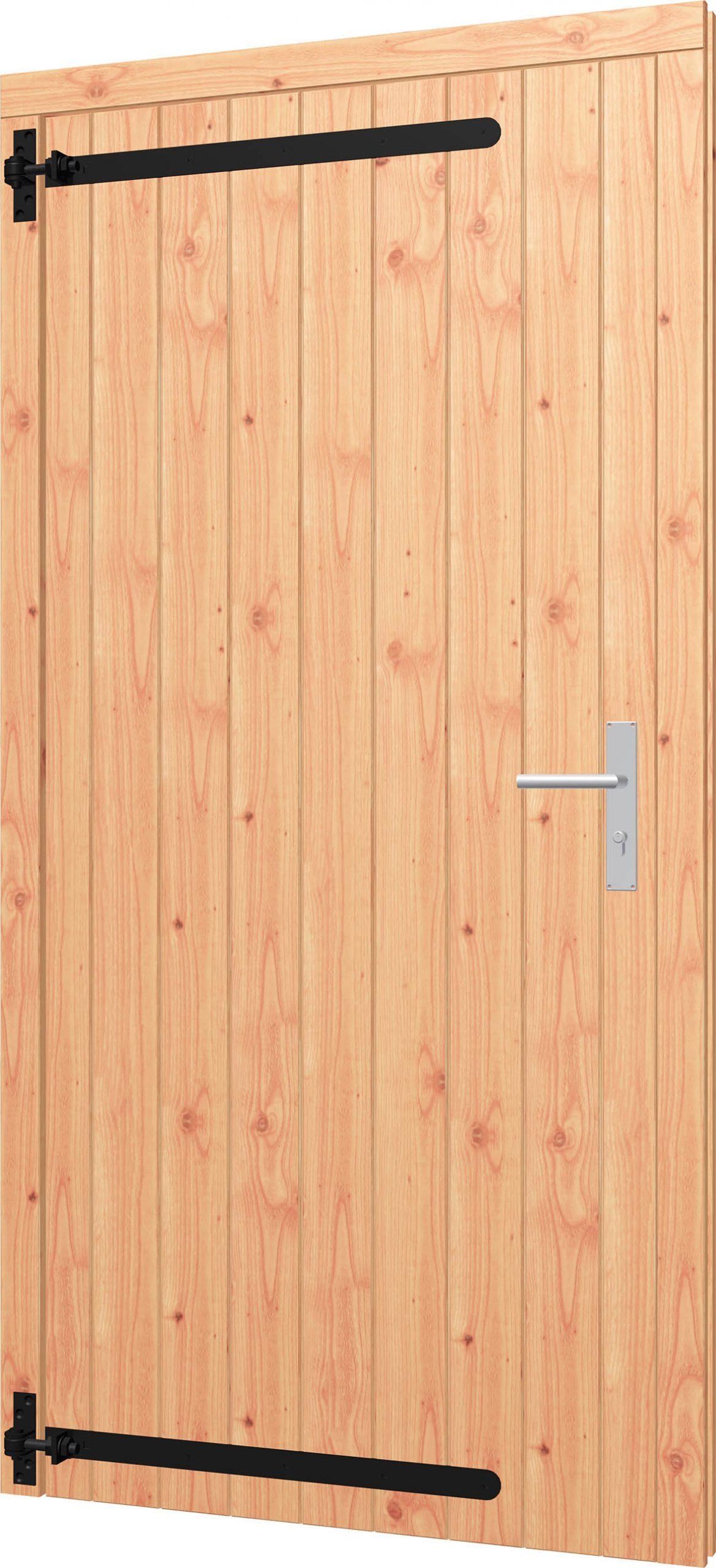 opgeklampte deur enkel